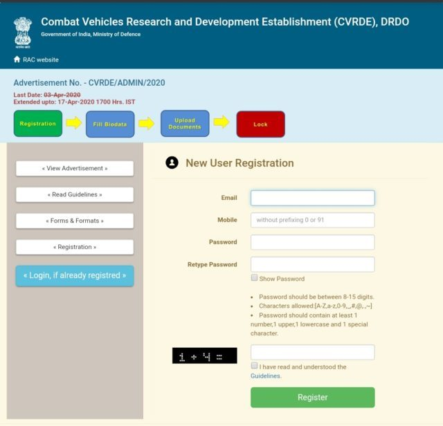 DRDO application
